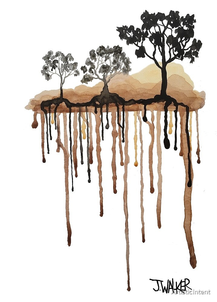 Dripping trees, running paint? by ArtisticIntent