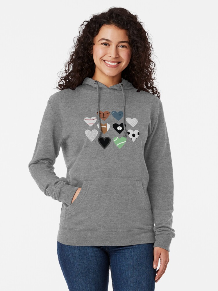 Alternate view of Sports lover and tennis bowling soccer baseball golf pool billiards Lightweight Hoodie