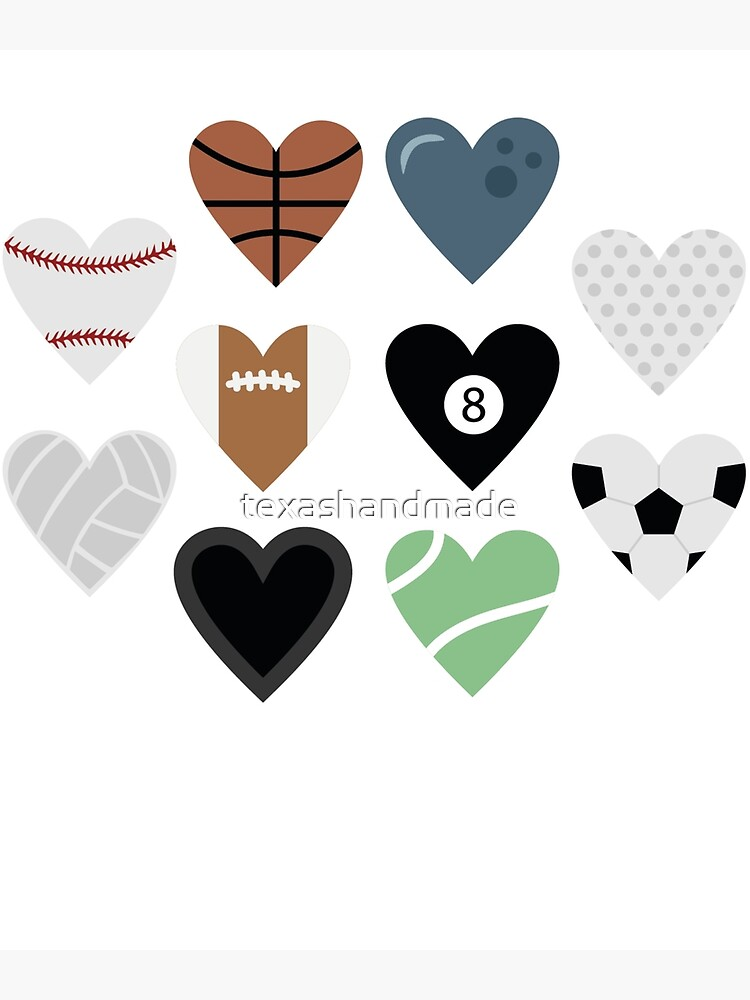 Sports lover and tennis bowling soccer baseball golf pool billiards by texashandmade