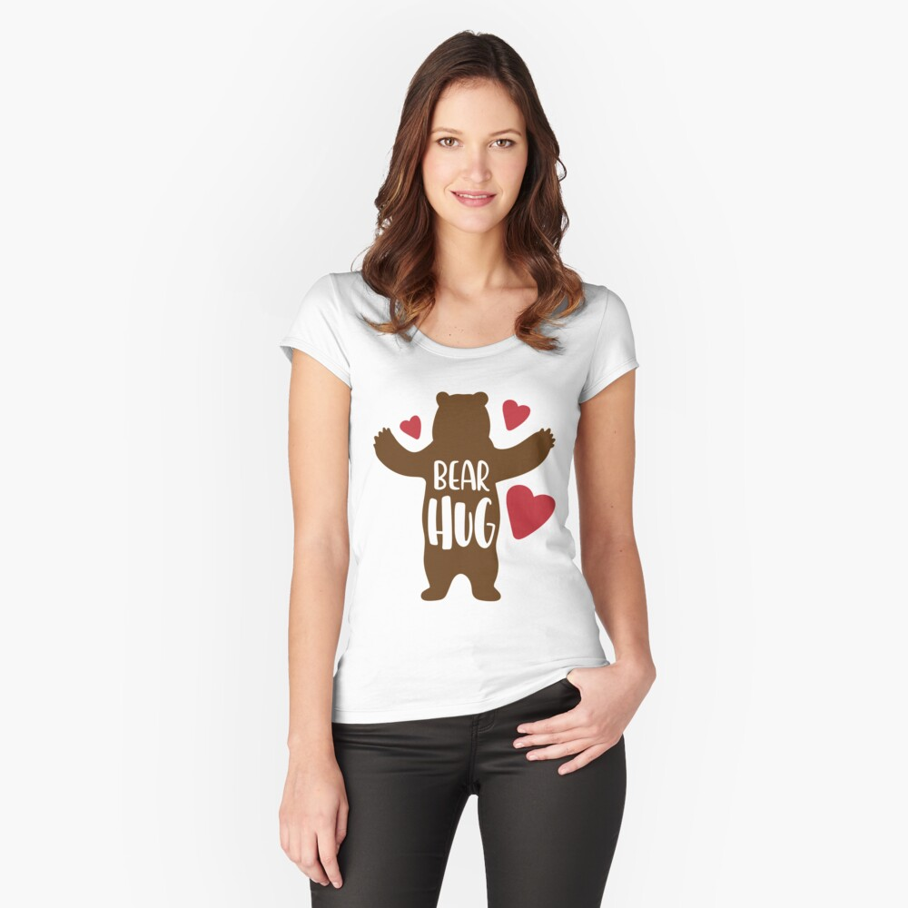 Bear Hug Fitted Scoop T-Shirt