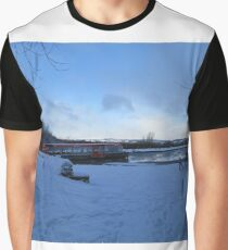 Falkirk Wheel on a Snowy Winter Day Graphic T-Shirt