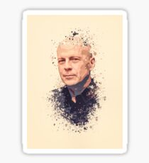 Bruce Willis splatter painting Sticker