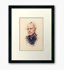 Bruce Willis splatter painting Framed Print