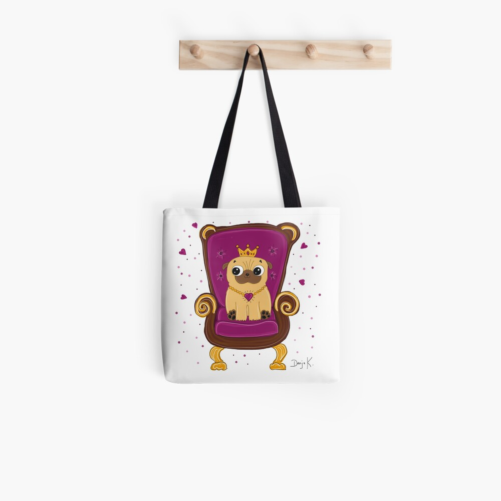 Frieda - Queen of Pugs Tote Bag
