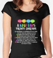 A KPOP FAN'S TALENTS Women's Fitted Scoop T-Shirt