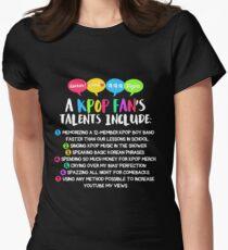 A KPOP FAN'S TALENTS Women's Fitted T-Shirt