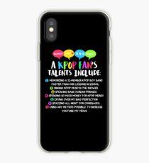 Vinilo o funda para iPhone LOS TALENTOS DE UN FAN DE KPOP