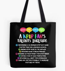 A KPOP FAN'S TALENTS Tote Bag