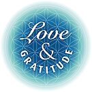 Love & Gratitude on Flower of Life by RedCloudDesign