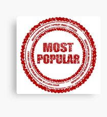 The most popular stamp Canvas Print