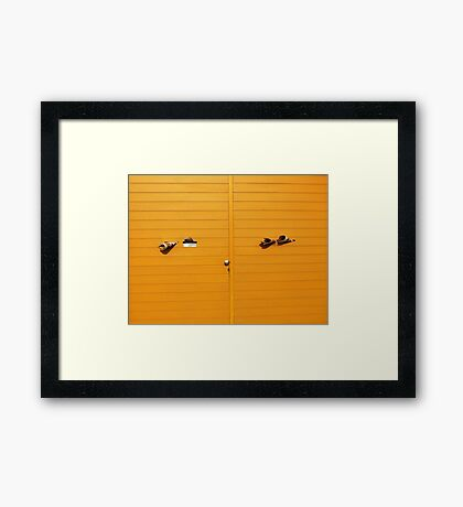 Yellow Times Framed Print