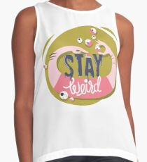 Stay Weird T-Shirt Contrast Tank