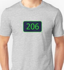 206 (Seattle!) Unisex T-Shirt