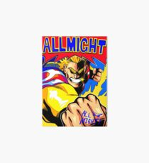 ALL MIGHT anime poster (with signature) Art Board