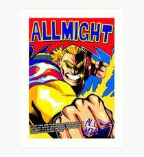 Lámina artística TODOS PODRÍAN anime póster (con comillas + firma)