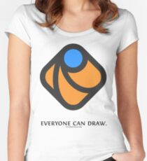 Everyone can draw Women's Fitted Scoop T-Shirt