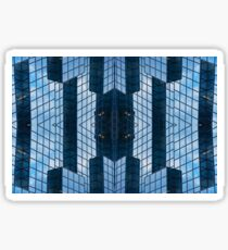 Blue Architecture Abstract Sticker