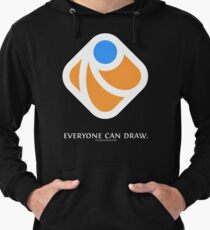 Everyone can draw (black) Lightweight Hoodie