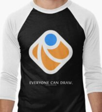 Everyone can draw (black) Men's Baseball ¾ T-Shirt