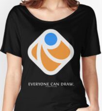 Everyone can draw (black) Women's Relaxed Fit T-Shirt