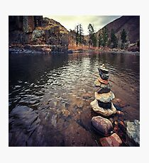 Trail Marker Poudre River Photographic Print
