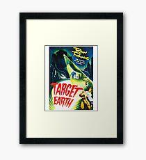 Target Earth Vintage Sci Fi Framed Print
