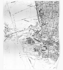 Vintage oakland map posters redbubble vintage map of oakland california 1959 bw poster publicscrutiny Image collections