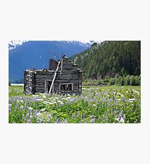 Abandoned cabin at Alice Arm Photographic Print