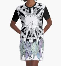 Catch Peace Graphic T-Shirt Dress