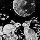 Under the silver moon they dance the Rabbit and the Hare by Bronia Sawyer