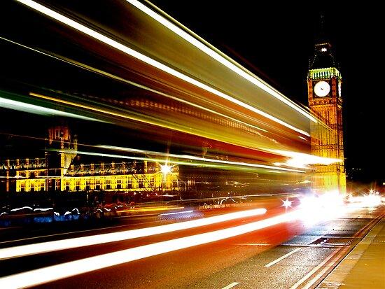 BIG BEN NIGHT BUS by Scott  d'Almeida
