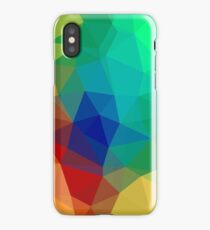 Unique Galaxy and iPhone Cover Colorful Cubism Design iPhone Case