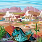 Power Plant in the Desert by Charles Harker