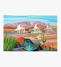 Power Plant in the Desert Photographic Print