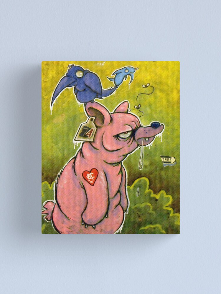 Alternate view of The PigBear Blues Canvas Print