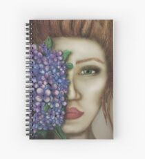 girl with flowers lilac Spiral Notebook