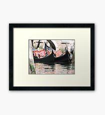 Gorgeous Gondolas Framed Print