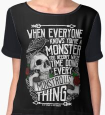SIX OF CROWS | 'Every Mounstrous Thing...' Chiffon Top