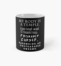 Mein Körper ist ein Tempel Tasse (Standard)