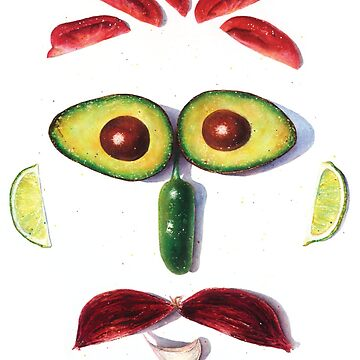 Señor Guac Food Art by ElaineCallahan