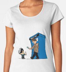 Sherlock and Who Women's Premium T-Shirt