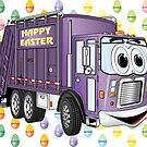 Easter Garbage Truck by Graphxpro