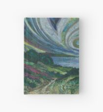 Clifftop Walk - Overstrand to Cromer, Norfolk Embroidery - Textile Art Hardcover Journal