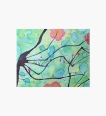 Cherry Blooms Water Color Art Board