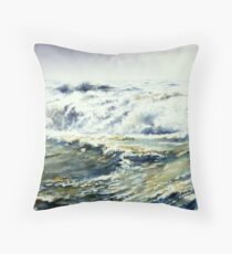 """"""" Turbulent Waters """" Throw Pillow"""