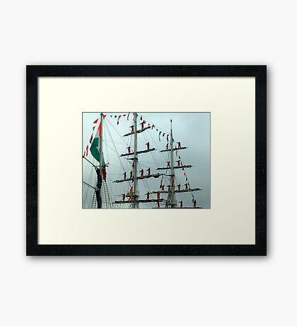 Sailors on Display Framed Print