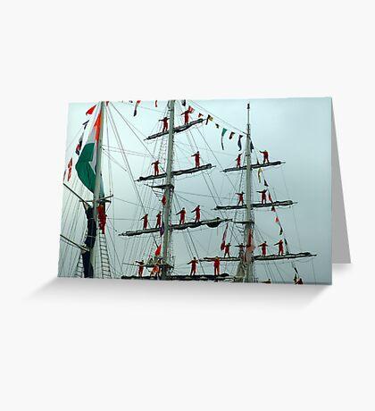 Sailors on Display Greeting Card