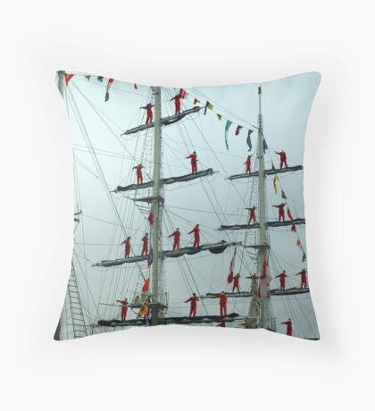 Sailors on Display Throw Pillow