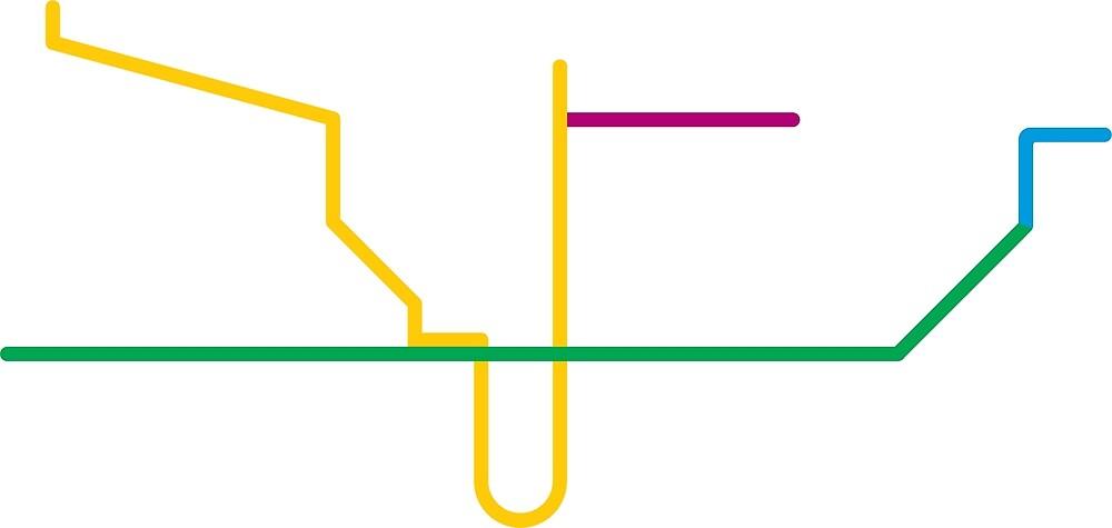 Subway Map Ttc.Ttc Subway Map By Bzmw Redbubble