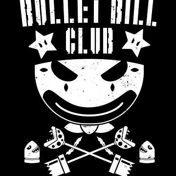 Club of William Bullets (white on black) by strangethingsA